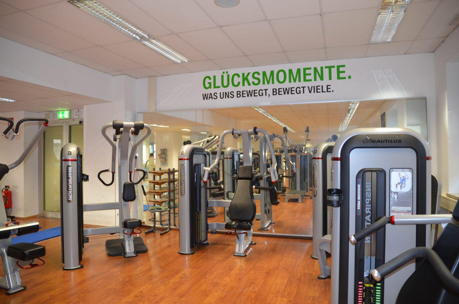 Fitnessgeräte im BMW ProAktiv 2 Fitnesscenter zur betrieblichen Gesundheitsförderung