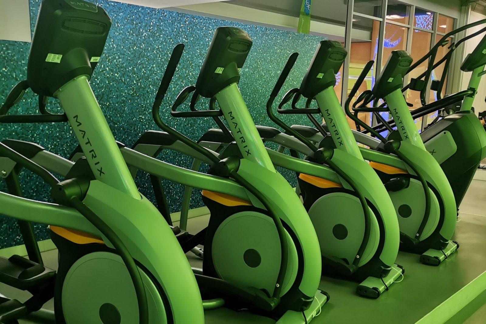 Crosstrainer im M-Fitnesscenter der Olympia-Schwimmhalle München