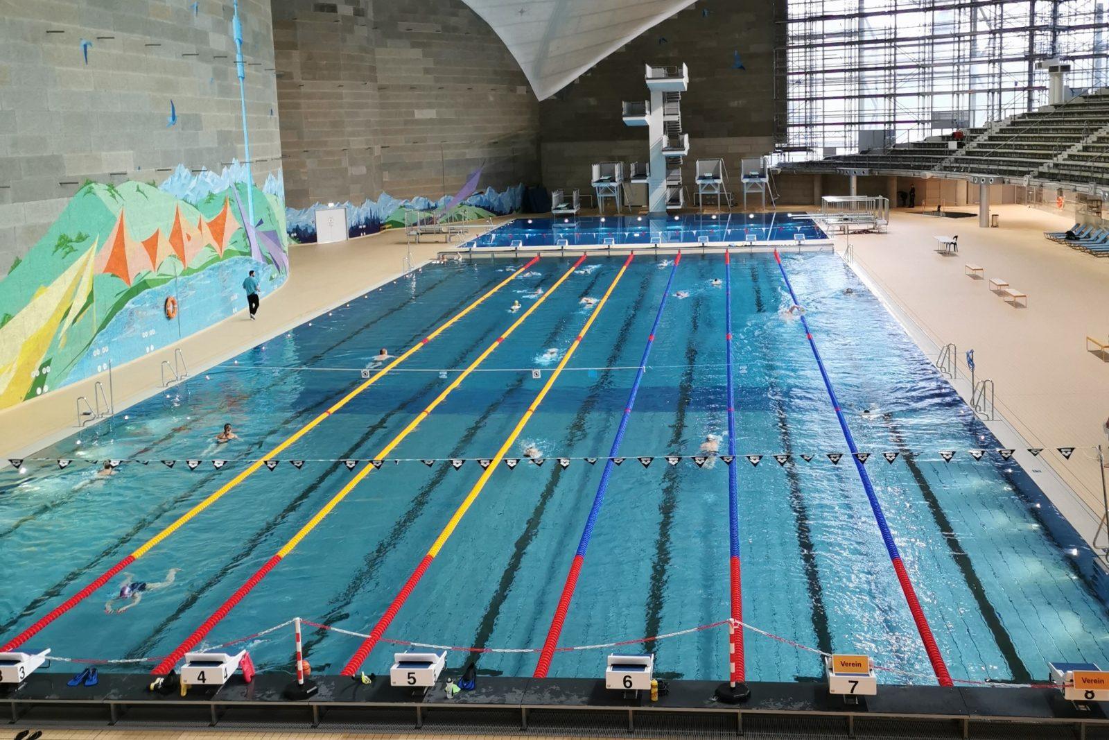 Sportschwimmerbecken der SWM Olympia-Schwimmhalle München